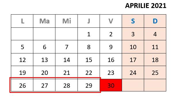 calendar aprilie 2021 rabla electrocasnice
