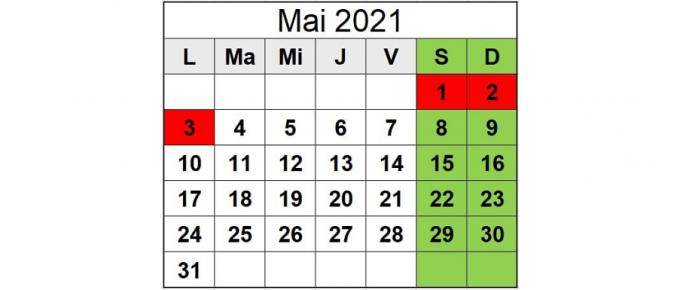 calendar luna mai 2021