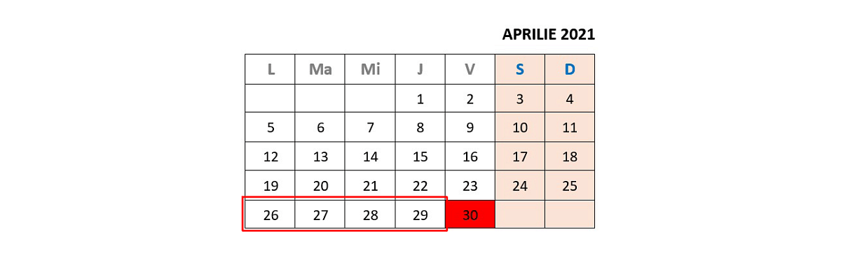 calendar rabla electrocasnice in 2021
