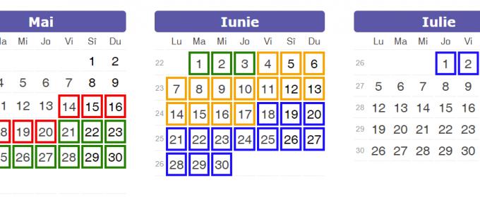 calendar Rabla Electrocsnice 2021 mai iunie iulie