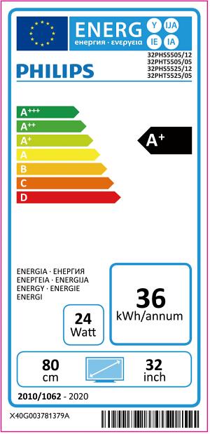 eticheta veche clasa energetica televizor