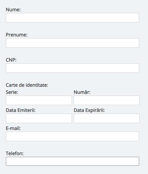 formular date personale site AFM