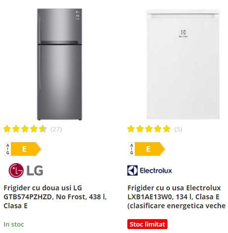 frigidere Flanco oferta clasa energetica E