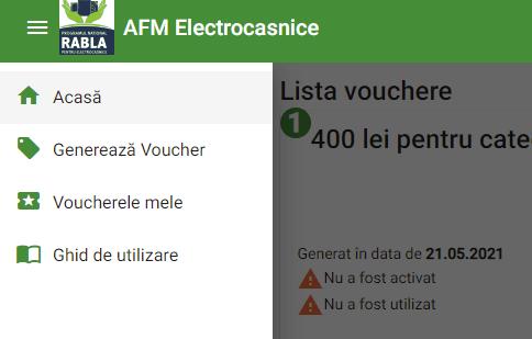 generare voucher rabla electrocasnice 2021