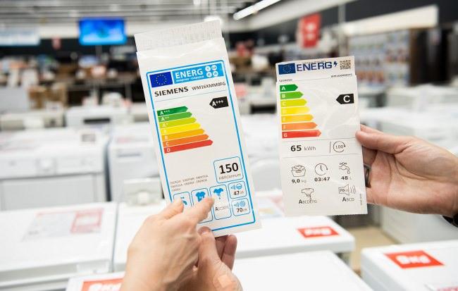 noi clase eficienta energetica UE comparatie in magazin