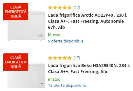 oferta eMAG lazi frigorifice
