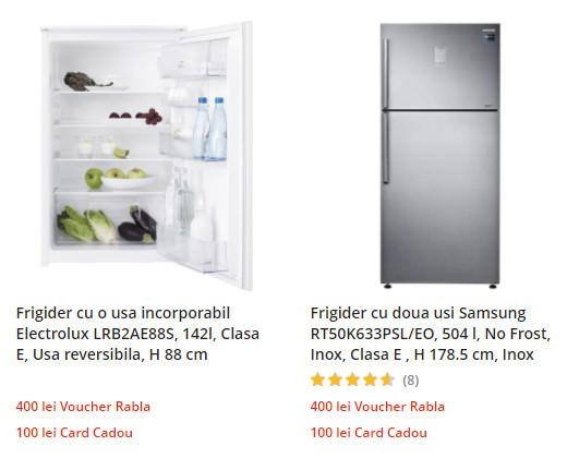 oferta frigidere eMAG clasa energetica E