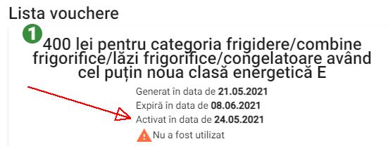 voucher activat rabla electrocasnice 2021